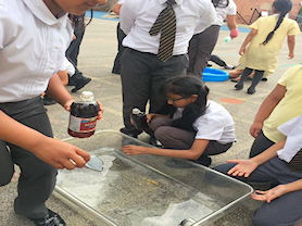 Children conducting science experiments